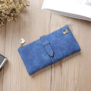 Fashion Women Girls Leather Clutch Wallet Long Card Holder Purse Handbag Luxury Brand 2017 New Design High Quality Wallet