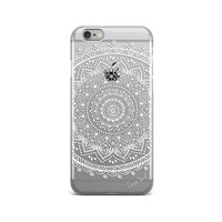 Mandala Clear iPhone 6s case,clear plastic iphone 6s case,clear plastic iphone 6 case,clear plastic iphone 5s case,plastic iphone 6/6s case