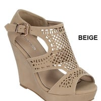 Beige Decorative Wedge