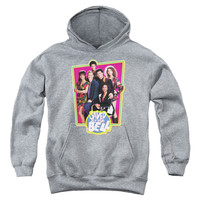 SAVED BY THE BELL/SAVED CAST-YOUTH PULL-OVER HOODIE - HEATHER -