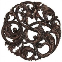 Paragon Aged Copper Leaf Swirl Wall Plaque - 9871 - Metal Wall Art - Wall Art & Coverings - Decor