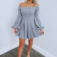 Hold Me Closer Dress: Grey