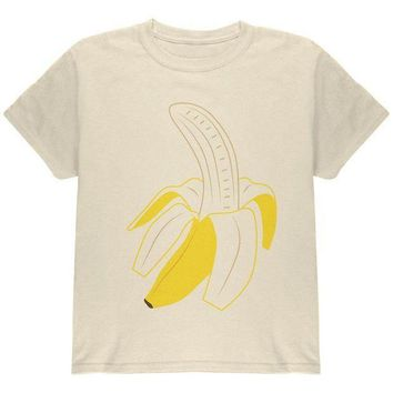 ESBGQ9 Halloween Fruit Peeled Banana Costume Youth T Shirt