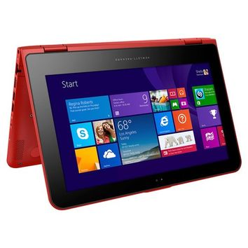 "HP - Pavilion 2-in-1 11.6"" Touch-Screen Laptop - Intel Pentium - 4GB Memory - 500GB Hard Drive - Sunset Red"