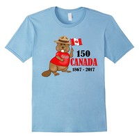 Proudly Canadian Beaver 150 Anniversary T-Shirt