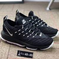 NIKE 2018 new comfortable cushion light shock absorber sports shoes F-CSXY black
