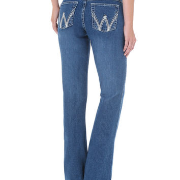 Wrangler Women's Medium Wash Cool Vantage Ultimate Riding Q-Baby Jeans