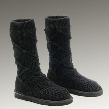 UGG Classic Argly Knit 5879 Boots Black