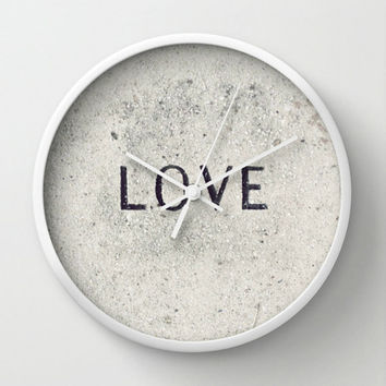Wall Clock - Love Stone Photography - Neutral Photo Wall Clock - Unique Customizable Round Home Decor Wall Clock