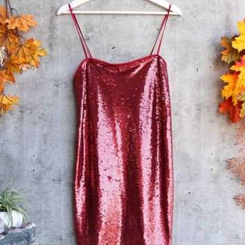 f8dca7c19f67 free people - time to shine sequin mini slip dress - canyon red
