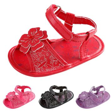 Soft baby girls shoes Toddler Girl Crib Shoes Newborn Flower Soft Sole Anti-slip Baby Sneakers Sandals