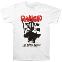Rancid Men's  Wolves T-shirt White