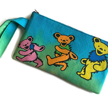 Grateful Dead Bag Upcycled T-shirt Bag Grateful Dead Bear Clutch