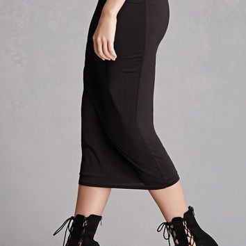 Midi Stretch-Knit Skirt