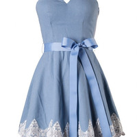 """Little Bo Peep"" Dress - Denim"