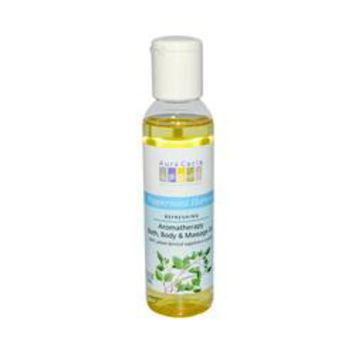 Aura Cacia Aromatherapy Bath Body and Massage Oil Peppermint Harvest (4 fl Oz)