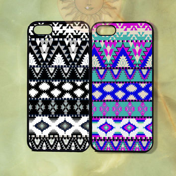 Customized Aztec Couple Best Friend Case-iPhone 5, 5s, 5c, 4s, 4, Ipod touch 4, 5, Samsung GS3, GS4, GS5-Rubber, Hard Plastic Case, cover