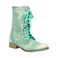 Steve Madden - TROOPA GREEN LEATHER