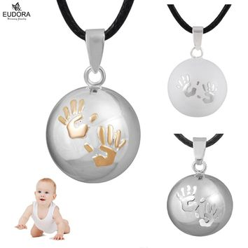 Eudora Baby Angel Caller Lovely Hand Print Pregnancy Ball Chime Sound Harmony Bola Chime Ball Pendant Jewelry For Pregnant Women