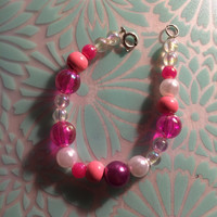 Pink and Pearl Bracelet