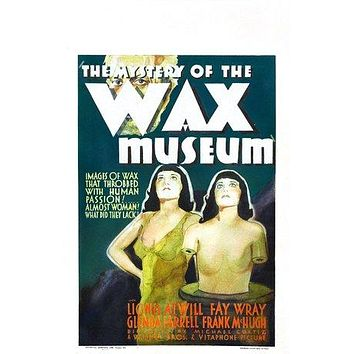 Mystery of the Wax Museum Poster//Mystery of the Wax Museum Movie Poster//Movie Poster//Poster Reprint