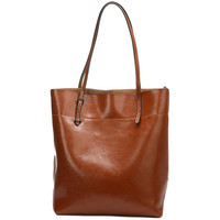 Lixmee brief design leather women tote bag