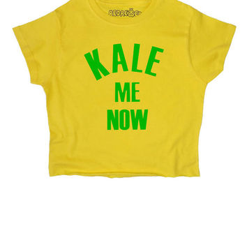 Kale Me Now // Crop Top // Vegan // Vegetarian // Retro // Avocado // Grunge // 90s // Black White // Womens Ladies // S M L XL