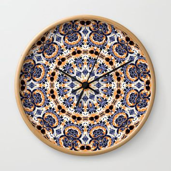 Abstract Mandala Pattern Wall Clock by tmarchev