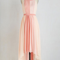 Pastel Long Sleeveless A-line Peachy Queen Dress