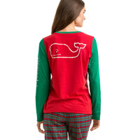 Long-Sleeve Party Whale Pocket Tee