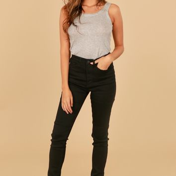 Midnight High Rise Skinny Black