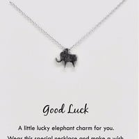 Mariel Good Luck Elephant Necklace