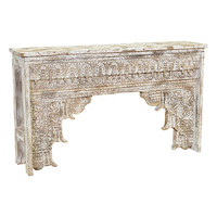 Antique White Mango Wood Ariel Console Table