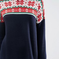ASOS TALL Co-Ord Fairisle Christmas Jumper at asos.com