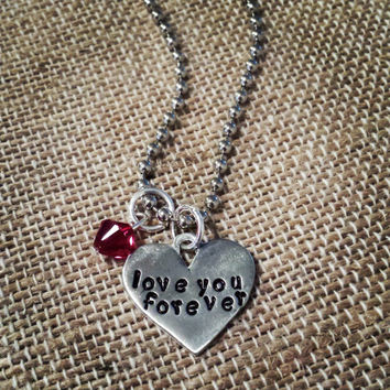 """Hand Stamped """"Love You Forever"""" Necklace"""
