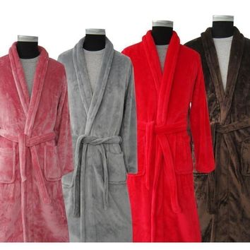 Men's Long and Soft Collection Bath Robes - 7 Colors & Multiple Sizes