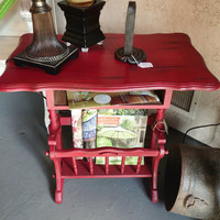 Table, furniture, magazine rack, painted furniture, stand vintage