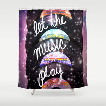 Let the Music Play Shower Curtain by Shawn Terry King
