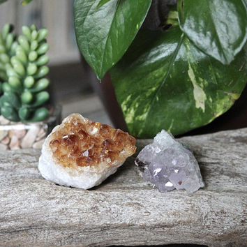 Citrine & Amethyst Set