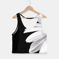 Half Daisy In Black And White Crop Top, Live Heroes