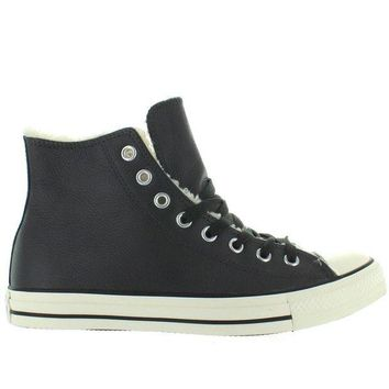 DCCKHD9 Converse All-Star Chuck Taylor Hi - Grey Leather Shearling High-Top Sneaker