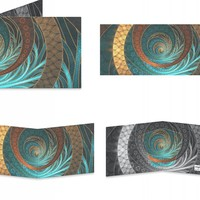 Leather Turquoise Fractals