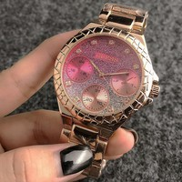 GUESS steel belt quartz watch fashion trend waterproof female watch F-Fushida-8899 4