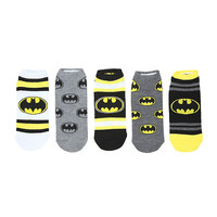 DC Comics Batman Varsity No-Show Socks 5 Pair