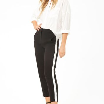 Contrast Stripe Ankle Pants
