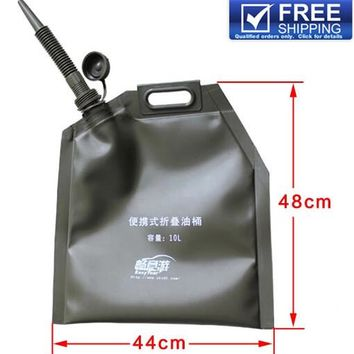 10L Folding Jerry Can Fuel Tanks Bag Gasoline Bucket Storage Container Oil Tank Petrol Cans Petrol Tank Army Green