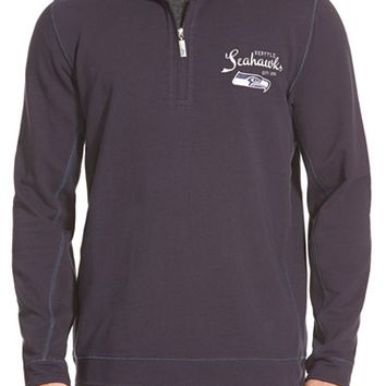 Men's Tommy Bahama 'Ben & Terry - Seattle Seahawks' NFL Quarter Zip Pullover,