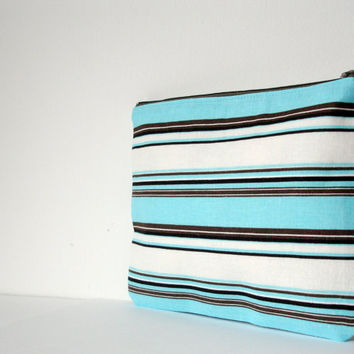 Aqua Brown Cosmetic Pouch,Cosmetic Bag,Cosmetic Pouch