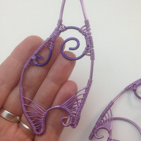 Lilac and Purple Wire Elf Ear Tips / Ear Extensions