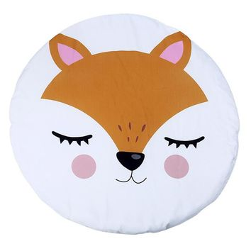 Winter Baby Round Floor Carpet Soft Game Pad Cartoon Unicorn Printed Kids Toys Play Mat Baby Kids Crawling Blanket Gym Play Mat